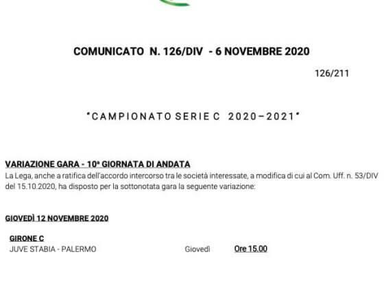 lega serie C Juve Palermo anticipated